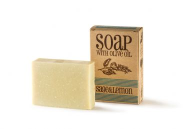 Sapunoteka Soap Sage & Lemon 75g - Šalvějové mýdlo s citronovou trávou a olejem