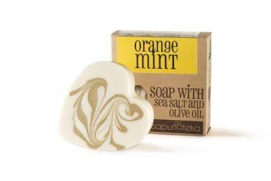 Sapunoteka Soap Sea Salt Orange & Mint 125g - Mýdlo pomeranč a máta s mořskou solí